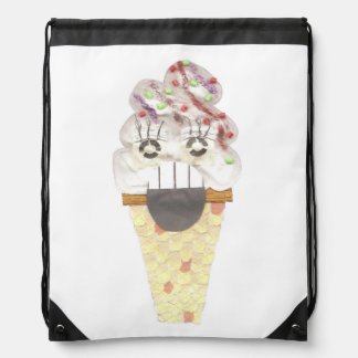 I Scream Drawstring Bag