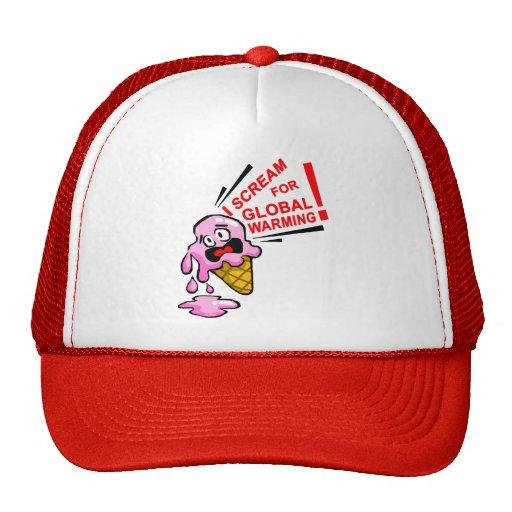 I scream for global warming! trucker hat