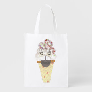 I Scream No Background Reusable Bag
