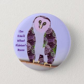 I See a World Owl 1b 6 Cm Round Badge