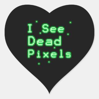 I See Dead Pixels Heart Sticker