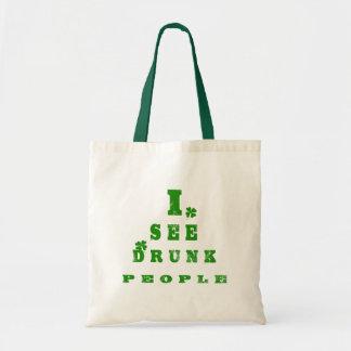 I See Drunk People Tote Bag