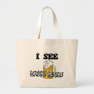 I See Drunk People Funny Stuff Canvas Bags
