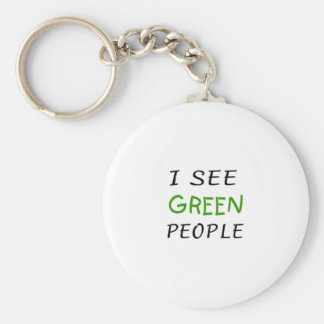 I See Green People St Pattys Day Key Chains