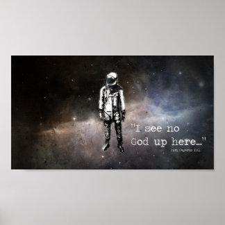 """""""I see no god up here"""" -Yuri Gagarin Poster"""