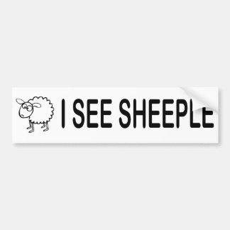 I See Sheeple Car Bumper Sticker
