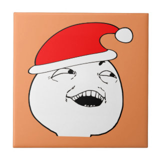 i see what you did there xmas meme small square tile