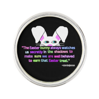 I See You, Easter Bunny Round Lapel Pin