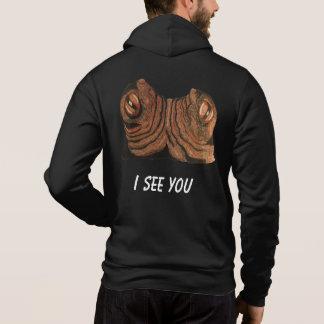 I see you men's dark hoodie