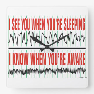 I See You When You're Sleeping Clock