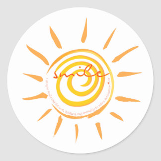 I See Your Smile Like The Sun Poem Classic Round Sticker