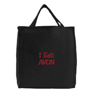 I Sell AVON Embroidered Tote Bags