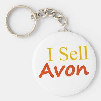 I-Sell-Avon-White Background Key Ring