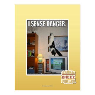 I sense danger postcard