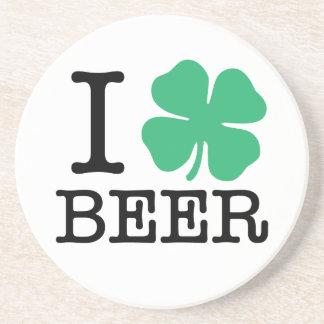 I Shamrock Beer Coaster