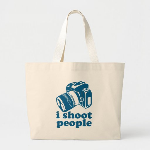 I Shoot People - Blue Tote Bags