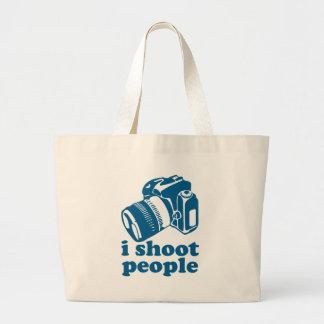 I Shoot People - Blue Jumbo Tote Bag