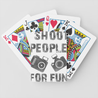 I shoot people for fun bicycle playing cards