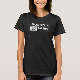 I Shoot People for Fun Photography Joke T-Shirt