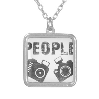 I shoot people for fun silver plated necklace