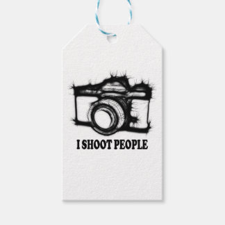 I shoot people gift tags