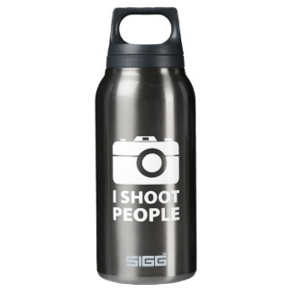 I Shoot People Insulated Water Bottle