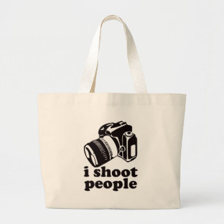 I Shoot People! Large Tote Bag