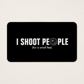 I shoot people - Metallic Paper (photography)