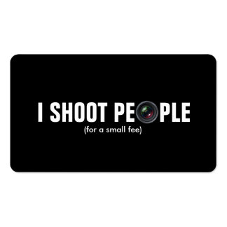 I shoot people - Metallic Paper (photography) Pack Of Standard Business Cards