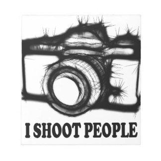 I shoot people notepad