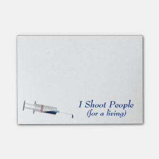 I Shoot People Nurse Humor Post-it Notes