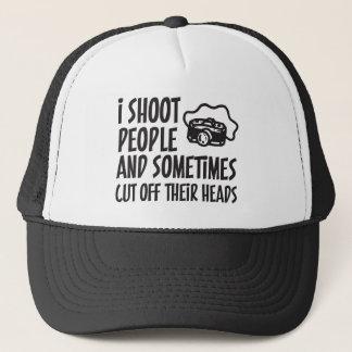 I Shoot People Photographer Humor Trucker Hat