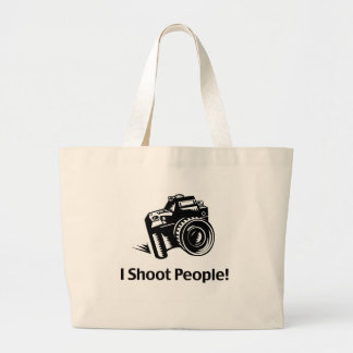 I Shoot People Photographer Large Tote Bag
