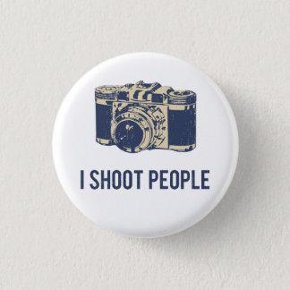I Shoot People Photography Camera 3 Cm Round Badge