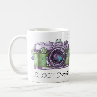 I shoot people, photography gift mug