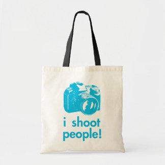 i shoot people photography photographer funny budget tote bag