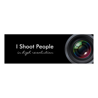 I shoot people - Professional Photographer Pack Of Skinny Business Cards