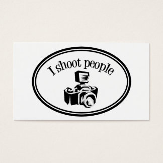 I Shoot People Retro Photographer's Camera B&W Business Card