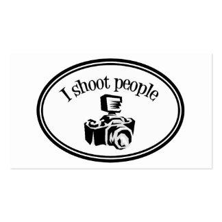 I Shoot People Retro Photographer's Camera B&W Business Card Templates