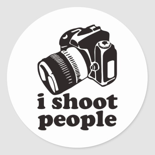 I Shoot People! Round Stickers