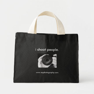 i shoot people., www.myphotography.com mini tote bag