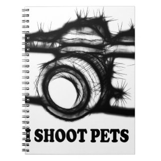 I shoot pets spiral notebook
