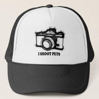 I shoot pets trucker hat