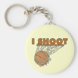 I Shoot T-shirts and Gifts Basic Round Button Key Ring