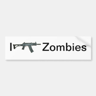 I shoot Zombies Bumper Sticker