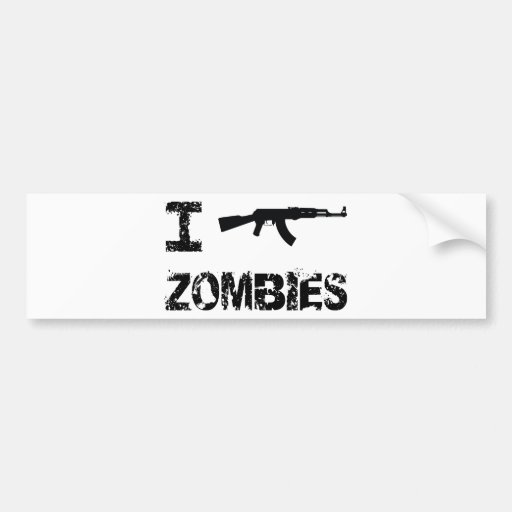 I Shoot Zombies Bumper Sticker