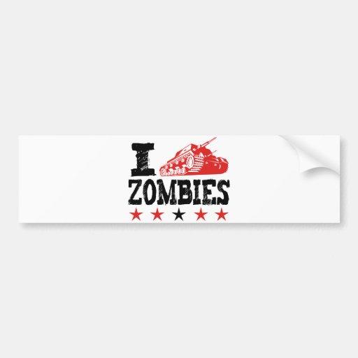 I Shoot Zombies Using Tank Bumper Sticker