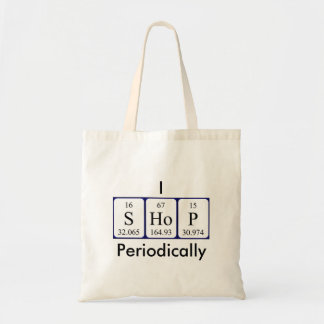 I Shop periodically periodic table word tote bag