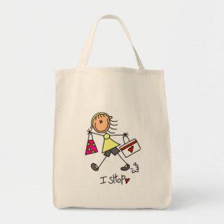 I Shop Tote Bag