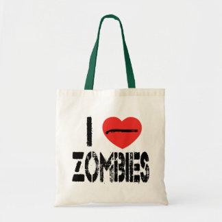 I Shotgun Zombies Canvas Bag
